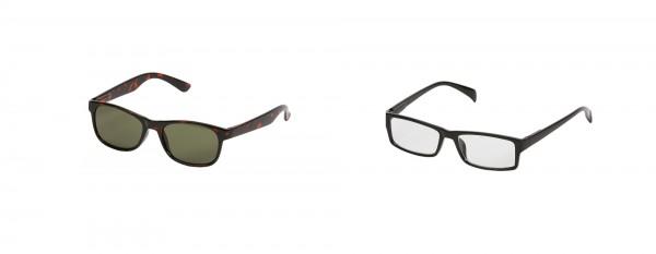 2er Set One Power Readers: Scharz/eckig und Sonnenbrille