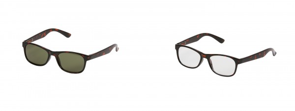 2er Set One Power Readers: Schildkrötdesign und Sonnenbrille